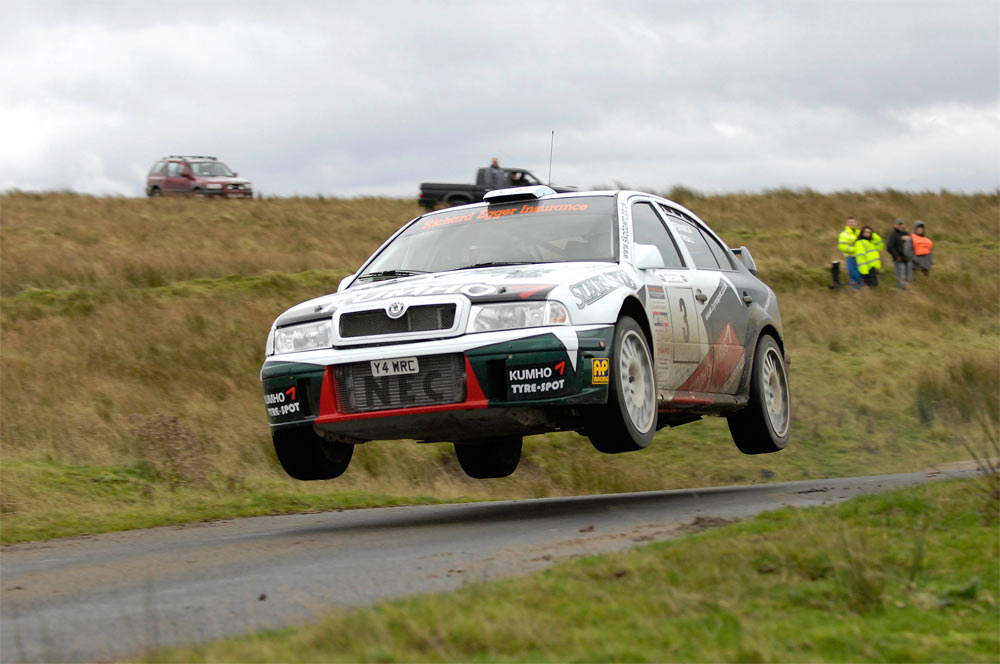 The Skoda Octavia WRC used to fly too...
